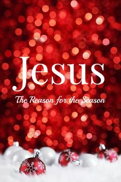 Jesus... the reason for the season. The reason for everything. Point Blank Period.