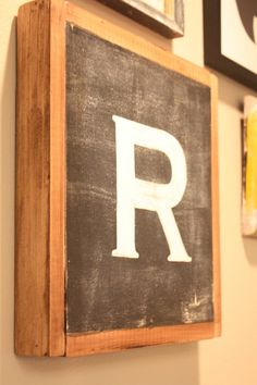 Letter R typography vintage distressed chic by mysweetsavannah, $24.99