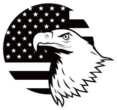 American Flag American Eagle Vinyl Decal Sticker Art Design Murals for Modern Interior or Exterior by ItsOutOfLA on Etsy
