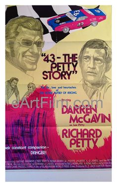 #NASCARThrowback #NASCAR #Throwback #Racing #Races  43 The Petty Story 1972 27x41 Original One Sheet United States