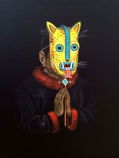 Mexico based artist Saner for FIFTY24SF at the La Art Show.