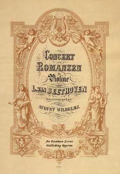 Beethoven, Ludwig van : Concerto, Op.61, arranged by August Wilhelmj