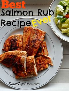 This is honestly the Best Salmon Rub Recipe I've ever had. It's fabulous! With lemon, cumin, paprika, chili powder, garlic. A real punch of flavor.