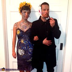 Amy: My boyfriend was Van Gogh with his ear cut off and I was a culmination of Van Gogh's most famous art works. Very easy costume and I have never gotten...
