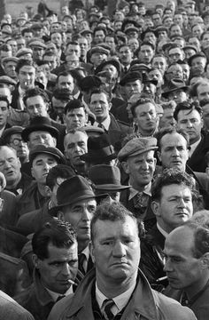 Dockers' strike in London, 1954 by Marc Riboud - Magnum Marc Riboud, People Photography, Fine Art Photography, Street Photography, Magnum Photos, Urbane Fotografie, French Photographers, Gcse Art, Photo Reference