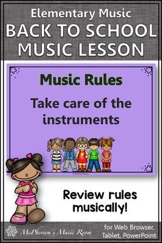 Review music classroom rules musically with this Back to School elementary music lesson and Orff arrangement! Your students will LOVE the engaging activities! Music Teachers, Teaching Music, Music Education, Classroom Rules, Music Classroom, Hello Music, Elementary Music Lessons, Music Lesson Plans, Music Activities