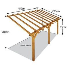 Alpendre – ABRIGO GRANDE – Leroy Merlin – Pergolas happen to be included in properties for years and year pergola ideas budget Diy Pergola, Pergola Carport, Modern Pergola, Small Pergola, Carport Garage, Cheap Pergola, Outdoor Pergola, Small Patio, Corner Pergola