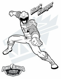 Black Ranger!  Download them all:  http://www.powerrangers.com/download-type/coloring-pages/