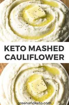 Creamy Keto Mashed Cauliflower Potatoes Green And Keto - This Creamy Keto Mashed Cauliflower Is The Perfect Keto Side Dish To Serve Instead Of Mashed Potatoes Cauliflower Mash Makes A Fantastic Substitute For Potatoes You Just Need A Few Tips On Ketogenic Recipes, Low Carb Recipes, Diet Recipes, Cooking Recipes, Slimfast Recipes, Easy Recipes, Cooking Bacon, Chicken Recipes, Halibut Recipes