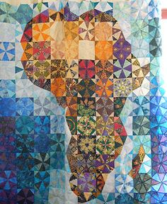 African Kaleidoscope:  a map quilt at World Quilter.
