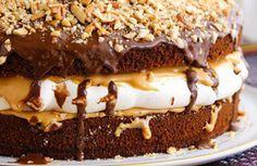 Beste Rezeptesammlung: Snickers Torte