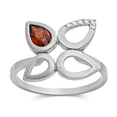 14k White Gold Garnet and Diamond #Ring from Borsheims