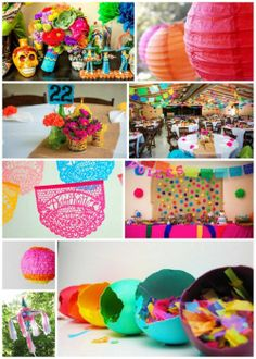 Decorations for a Cinco de Mayo wedding. This site has some great ideas for a #Mexicanwedding