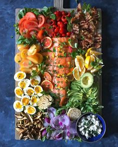 bring rosé  .  California Party Cobb with slow-roasted lemon herb salmon, recipe and all the sources on @tastespotting,   @thedelicious  .  .