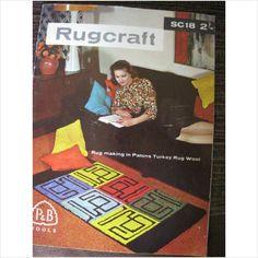 1950's P Rugcraft magazine Sc18 in Patons Turkey Rug Wool on eBid United Kingdom