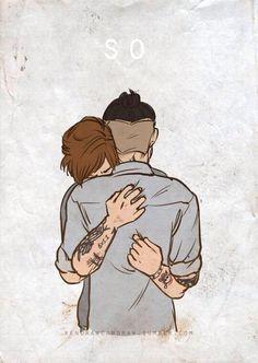 Louis hugging Zayn goodbye ❤️