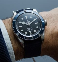 "2014 Tudor Heritage Black Bay ""Blue"" 79220B Watch Hands-On Hands-On"
