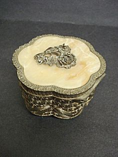Antique jewelry Box Metal and Marble (Jewelry Boxes) at Danica's ...