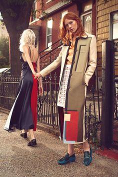 A Fendi FW15 coat featured in Harper's Bazaar Brasil