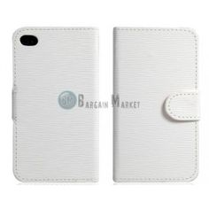 Toothpick Grain Faux Leather Case with Built-in Plastic Shell for iPhone 4/ 4S (White)