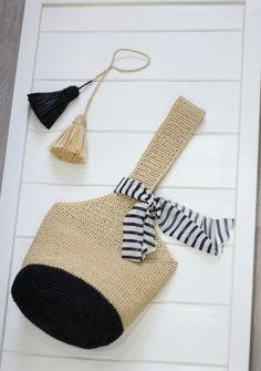 Bag Crochet, Crochet Clutch, Crochet World, Crochet Clothes, Crochet Stitches, Crochet Patterns, Crochet Handles, Diy Purse, Linen Bag