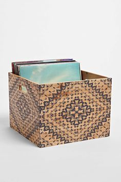 Magical Thinking Mandala Wood Storage Crate: Would be great for records