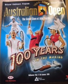 Australian Open book Souvenir Edition the grand Slam 100 years in the making pb