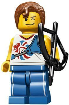 LEGO Series 7 Champion swimmer swimming  champion  mini figure FREE UK POSTAGE