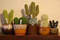 Cactus tejidos a mano colección VINTAGE por oddsandendshandmade