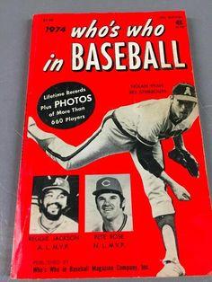 1974 WHO'S WHO IN BASEBALL--.Sports book NOLAN RYAN,REGGIE JACKSON,...
