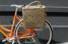 Detours Mogo Single Pannier. The baskets are completely hand crafted, using only natural earth tone dyes that contrast beautifully with the raw grass in the final weave. $50.00