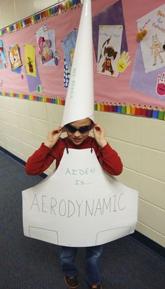 AERODYNAMIC! Vocabulary Parade costume for a BIG WORD, see more at DebraFrasier.com