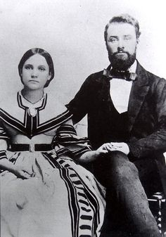 Elbert S. Jemison and his bride Louisa A. McElderry (b.1842 - d.1939) are shown on their wedding trip in 1858.  Louisa A. McElderry was the daughter of Thomas McElderry, one of Talladega Counties pioneer families.  Thomas fought along side of Andrew Jackson at the Battle of Talladega. Louisa married Elbert Jemison in Talladega on October 26, 1858.    Elbert S. Jemison, a native of Talladega, Alabama, attended LaGrange College, read law in the office of L. E. Parsons, and was admitted to the…