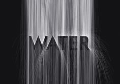 Black and white hidden water typography - by MountStar