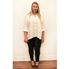 """Simplicity is the keynote of all true elegance."" - Coco Chanel Keep it simple with our White linen high-low blouse by #Kleen with @eileenfisherny black trouser.  #plussizefashion #plussizestyle #psfashion #psstyle #psblogger #fatshion #effyourbeautystandards #honormycurves #curves #curvy #torontofashion #primaala #beautyislimitless #plussizeootd #psootd #curvesarein #beautybeyondsize #lovetheskinyourein #cocochanel #fashionquote #elegance #linen"