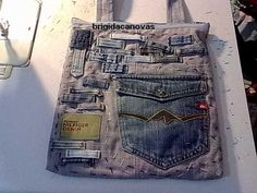Recycling ideas: bags made of old jeans, sewing pattern ~ make handmade - handmade - handicraft