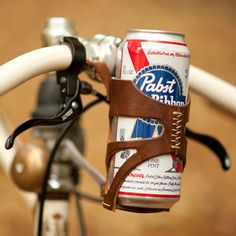 Beer Holder for the Bike This should be the symbol for Wicker Park @Keith Downs