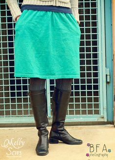 Easy T-shirt Skirts - With Pockets! - Melly Sews