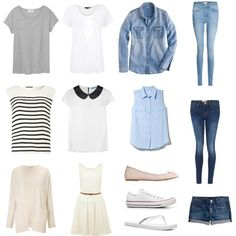 """""""Spring/Summer Capsule Wardrobe"""" by fromthelaketothetrees on Polyvore"""