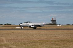 Gloster Meteor at Centenary of Military Aviation airshow,March 1 and 2 2014 at RAAF Williams, Point Cook, Victoria, Australia. RAAF Williams is the world's oldest continually operated military air base .Meteors were also built in Australia by the Commonwealth Aircraft Company.
