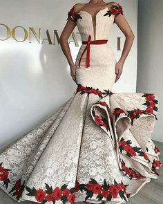 African Attire, African Fashion Dresses, African Dress, Dress Fashion, African Evening Dresses, Mermaid Evening Dresses, Evening Gowns, Prom Dresses, Short Dresses