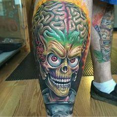 Instagram photo by local_tattoos - Mars attacks tattoo by @kbtat2