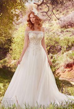 maggie sottero spring 2017 bridal off the shoulder wrap sweetheart neckline heavily embellished bodice romantic princess a line wedding dress chapel train (iris) mv