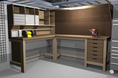 The Wooden Table Of Garage Workbench Home Interior Design Ideas