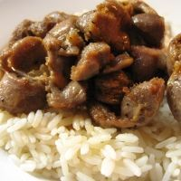 Chicken Gizzard and Rice...so dang good I have it at least once a week!
