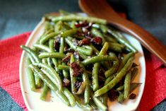 Sauteed Green Beans with Bacon and Mustard Glaze