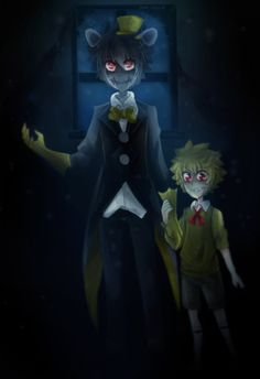 [Doodle] Human!Nightmare and Human!Plushtrap [+SP]