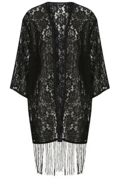 Lace Fringe Kimono - New In This Week - New In - Topshop USA