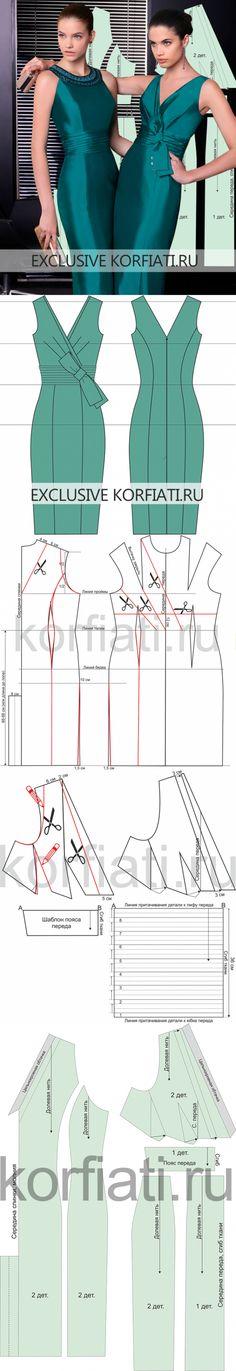 korfiati.ru New Dress Pattern, Dress Sewing Patterns, Clothing Patterns, Pattern Sewing, Women's Clothing, Sewing Clothes, Diy Clothes, Clothes For Women, Fashion Sewing