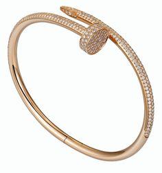 Juste un Clou bracelet: Juste un Clou bracelet, rose gold, set with 374 brilliant-cut diamonds carats). - – Juste un Clou bracelet – Rose gold, diamonds – Cartier - Bracelets Roses, The Bangles, Diamond Bracelets, Love Bracelets, Gold Bangles, Jewelry Bracelets, Cartier Nail Bracelet, Cartier Armband, Cartier Jewelry